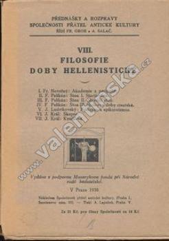 Filosofie doby hellenistické VIII.