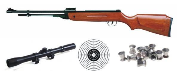Vzduchovka B3 5,5mm set s puškohledem