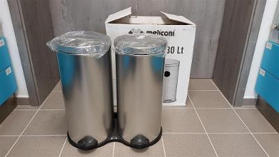 Meliconi Dvoukomorový odpadkový koš 60 l