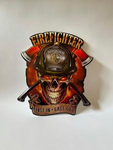 FIREFIGHTER - PLECHOVÁ CEDULE