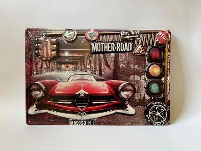 MOTHER ROAD - PLECHOVÁ CEDULE