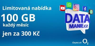 SIM karta O2 z limitované edice DATAMÁNIE - 100 GB na 30 dnů za 300 Kč