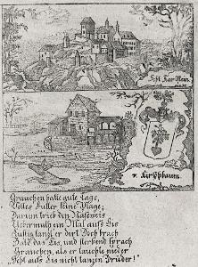 Karlštejn, Zittauisches ..,  mědiryt, (1800)