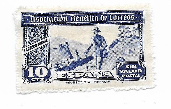 Známka starého Španělska** od koruny  - Filatelie