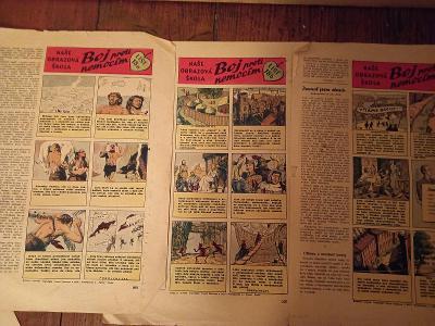 Starý komix, boj proti nemocim, z časopisu Vpřed