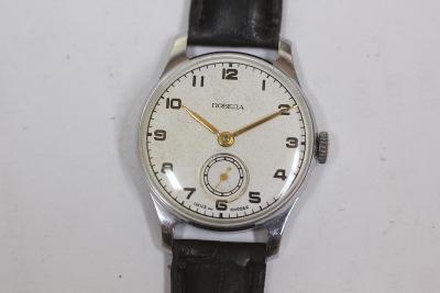 pánské hodinky Poběda USSR, bílý číselník TOP STAV