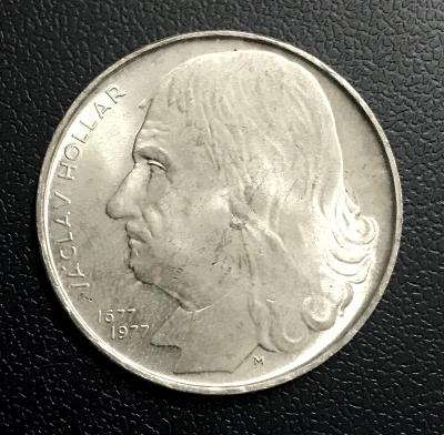 🌶Velmi vzácná stříbrná mince 100 Kčs 1977 - Václav Hollar