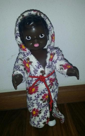 gumová panenka ZITA *černoška* GUMOTEX  - Starožitnosti