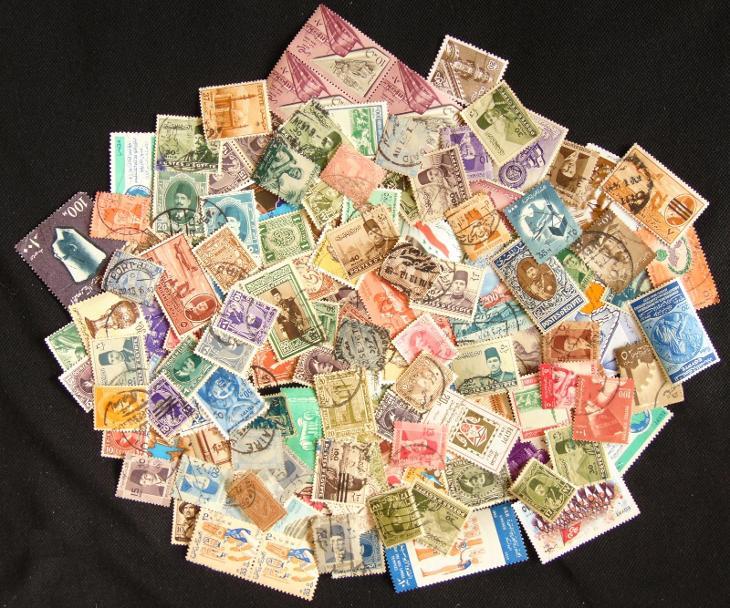 Sbírka známek Egypt, mnoho starých! - Filatelie