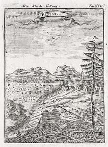 Peking III., Mallet, mědiryt, 1719