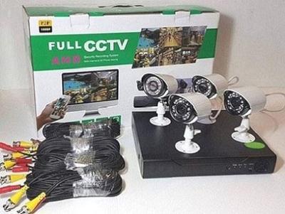 4 kamerový set 1,3MP kamery + XVR zařízení s HDMI + kábeláž