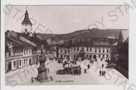 Jablunkov - náměstí, auto, trh
