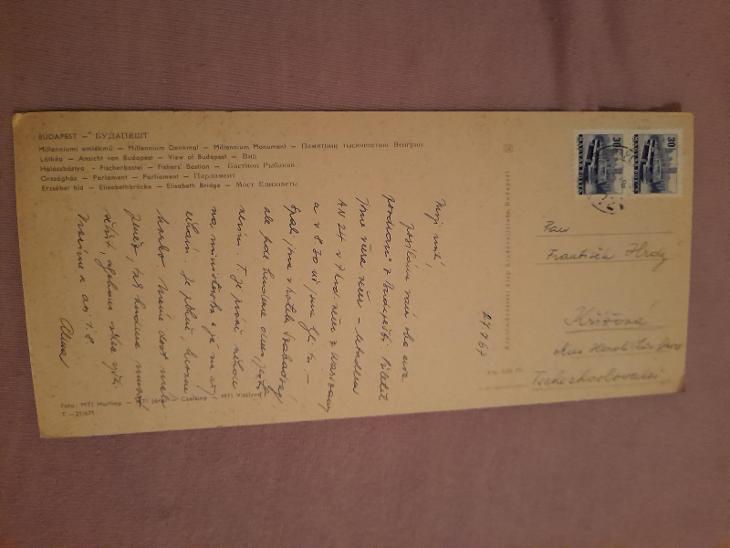 Pohlednice BUDAPEŠŤ,prošlé poštou  - Pohlednice