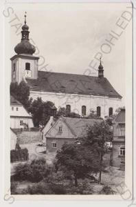 Podbořany - kostel a okolní domy