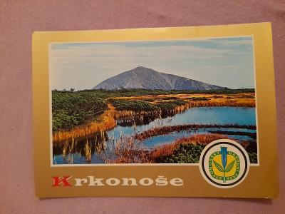 Pohlednice Krkonoše,neprošlé poštou