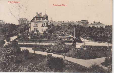 Opava (Troppau), Goethe - Platz, TRAMVAJ