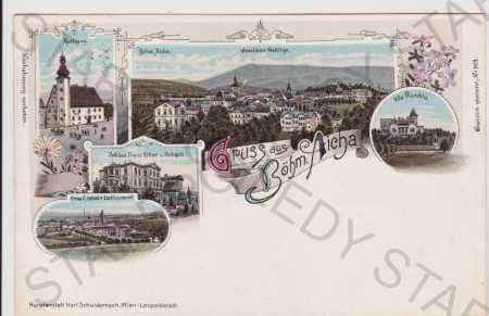 Český Dub (Böhmisch Aicha) - celkový pohled, vila