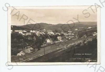Vimperk Prachatice  pohled na město z výšky