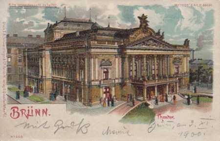 Brno divadlo LITOGRAFIE METEOR DA