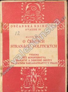 O českých stranách politických