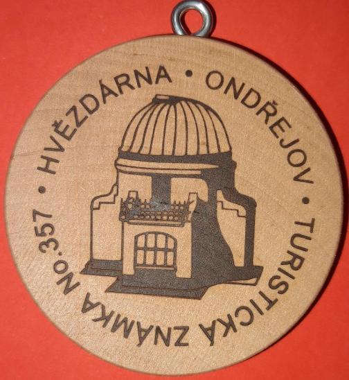 Turistická známka No. 357 - hvězdárna Ondřejov (bez kupónu) - Ostatní