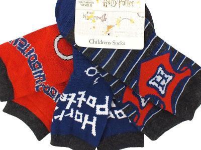 NOVÉ! HARRY POTTER - 3x obrázkové ponožky ALDI, vel.23-26