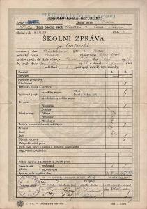 Školní vysvědčení_Žižkov_Aubrecht Jan_Praha_2428
