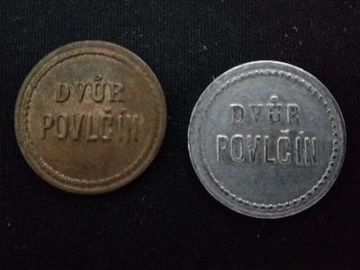 Chmelová známka2ks Dvůr Povlčín
