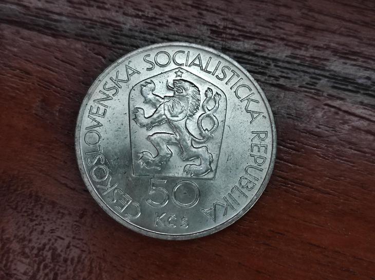 Stříbrná mince 50 Kčs Mincovna Kremnica 650. výročí 1978 -TOP - Numismatika