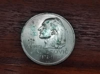 Stříbrná mince - 20 Kčs 1972 - PAMĚTNÍ MINCE ANDREJ SLÁDKOVIČ