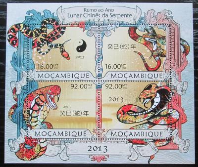 Mosambik 2013 Čínský nový rok, rok hada Mi# 6389-92 Kat 13€ 2451