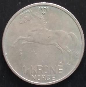 NORSKO  - 1 Krone 1971