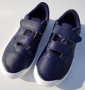 Tmavě modré boty sportovní obuv Decathlon do tělocvičny vel. 33