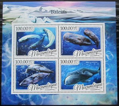 Mosambik 2016 Velryby Mi# 8794-97 Kat 22€ 2452
