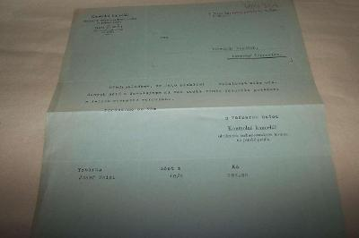 KONTROLNÍ KANCELÁŘ TOVÁREN NA PÁNSKÉ PRÁDLO urgence platbyr.1934/Ř14/