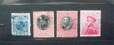 sestava známek SRBSKO 1894-1911
