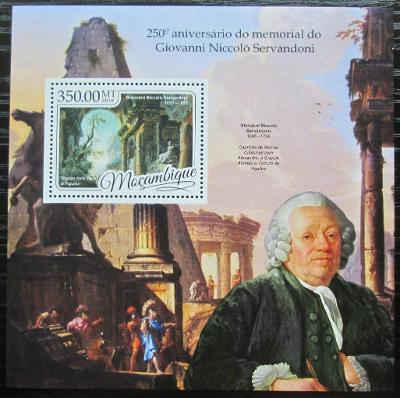 Mosambik 2016 Giovanni Niccolò Servandoni Mi# Block 1206 Kat 20€ 2453