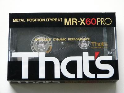 kazeta That´s MR-X 60 PRO, typ IV, 1985