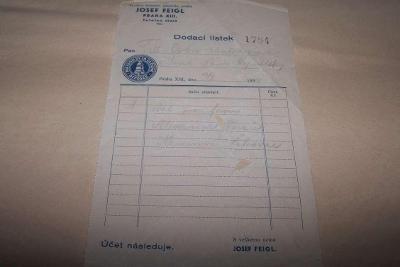 JOSEF FEIGL TOVÁRNA PRÁDLA PRAHA r. 1934 /Ř14/