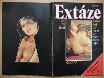 Erotický časopis - EXTÁZE - číslo 5 z roku 1991