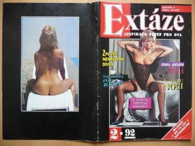 Erotický časopis - EXTÁZE - číslo 2 z roku 1992