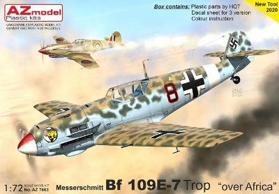 Messerschmitt Bf-109E-7 Trop over Africa - 1:72 plastikový model.