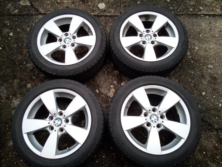 4xkola BMW: AL disky 7,5Jx17 s pneumatikami Michelin 225/50 R17 - Automobily