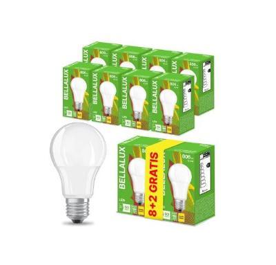 8x E27 8,5W 60W 827 BELLALUX LED žárovka + dárek