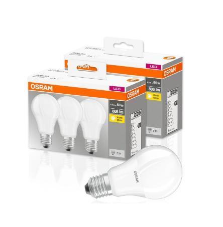 6x LED žárovka E27 A60 8,5W = 60W 806lm OSRAM + dárek - Zařízení