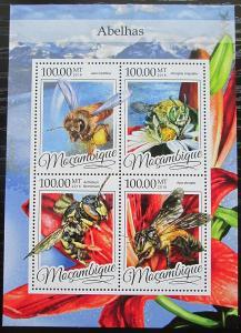 Mosambik 2016 Včely Mi# 8614-17 Kat 22€ 2455