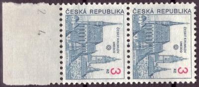 POF. 14 - MĚSTA 3 KČ - KRAJOVÁ 2-PÁSKA S DV 86/2 (S3174)