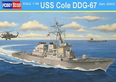 USS Cole DDG-67 - 1:700 plastikový model US vojenské lodě...