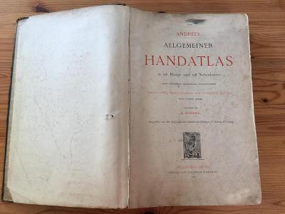 Atlas světa - Andrees Allgemeiner Handatlas 1900
