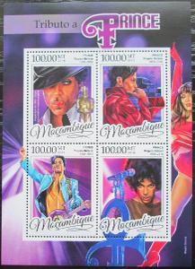 Mosambik 2016 Prince, hudebník Mi# 8669-72 Kat 22€ 2456